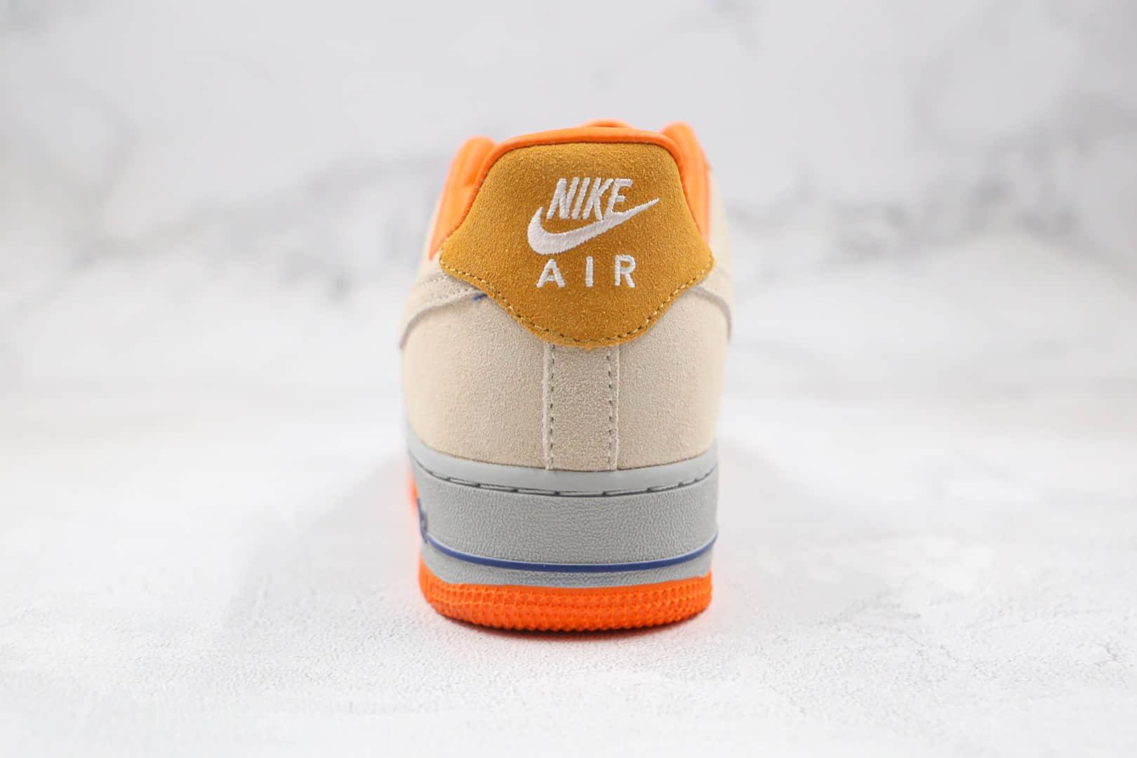 耐克Nike Air Force1 LOW'07纯原版本低帮空军一号蓝灰拼橙板鞋内置气垫 货号:DD7209-105