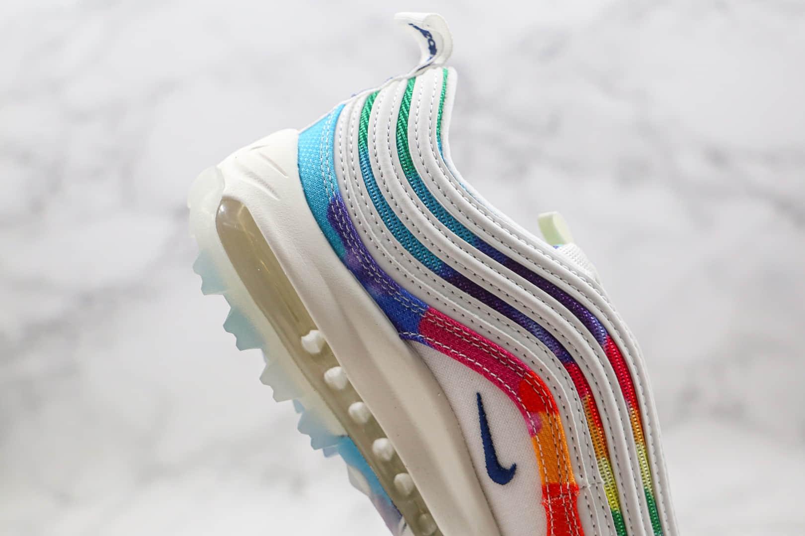 耐克Nike Max 97纯原版本高尔夫款子弹Max97气垫鞋扎染配色原盒原标原鞋开模一比一打造 货号:CK1219-100