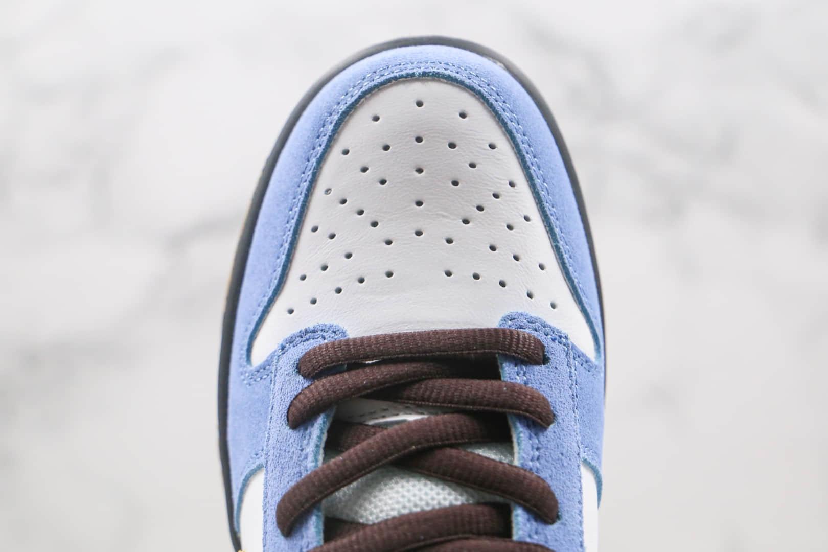 耐克NIKE DUNK SB LOW PRO SB HOMER纯原版本低帮SB DUNK辛普森白蓝配色板鞋内置后跟Zoom气垫 货号:304292-173