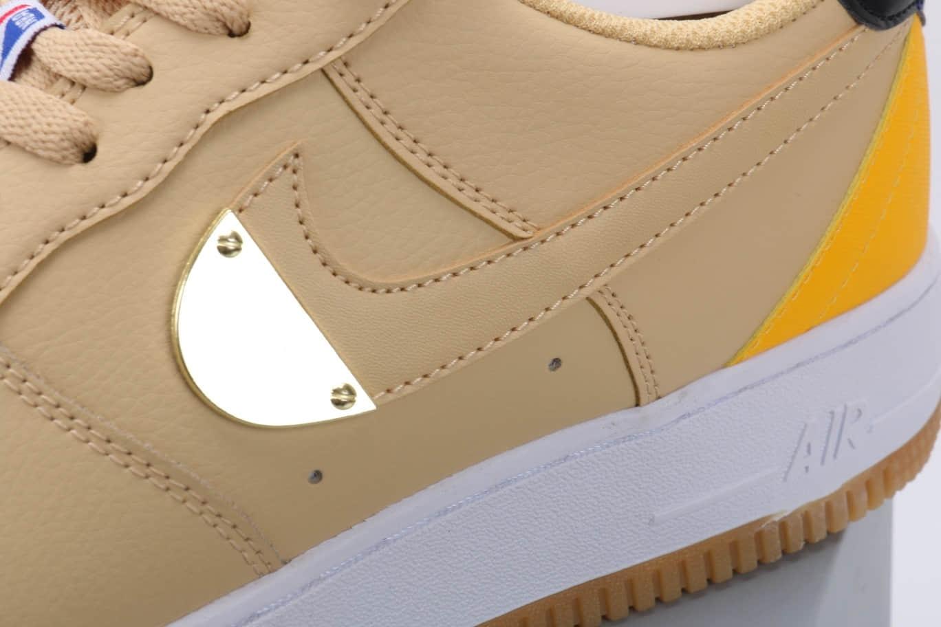 耐克Nike AIR FORCE 1 Low NBA Pack纯原版本低帮空军一号NBA联名款奶油黄板鞋原盒原标 货号:CT2298-200