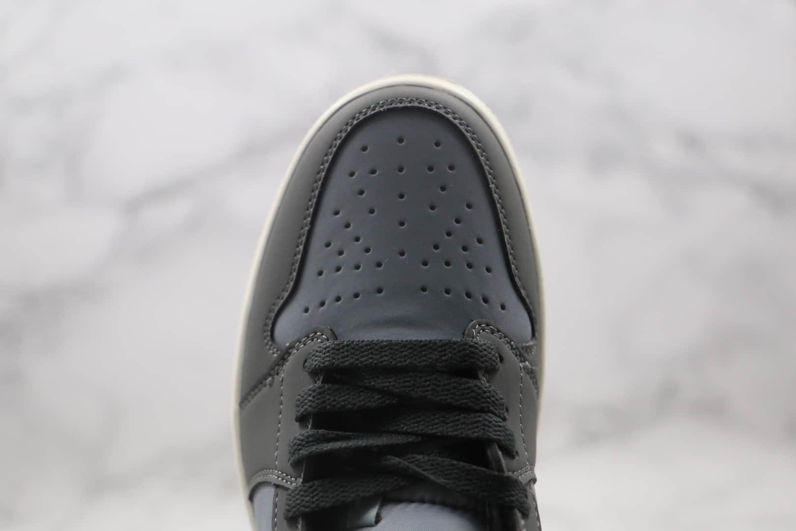 乔丹Air Jordan 1 Mid纯原版本中帮AJ1灰黄色原楦头纸板打造原鞋开模一比一 货号:BQ6472-020