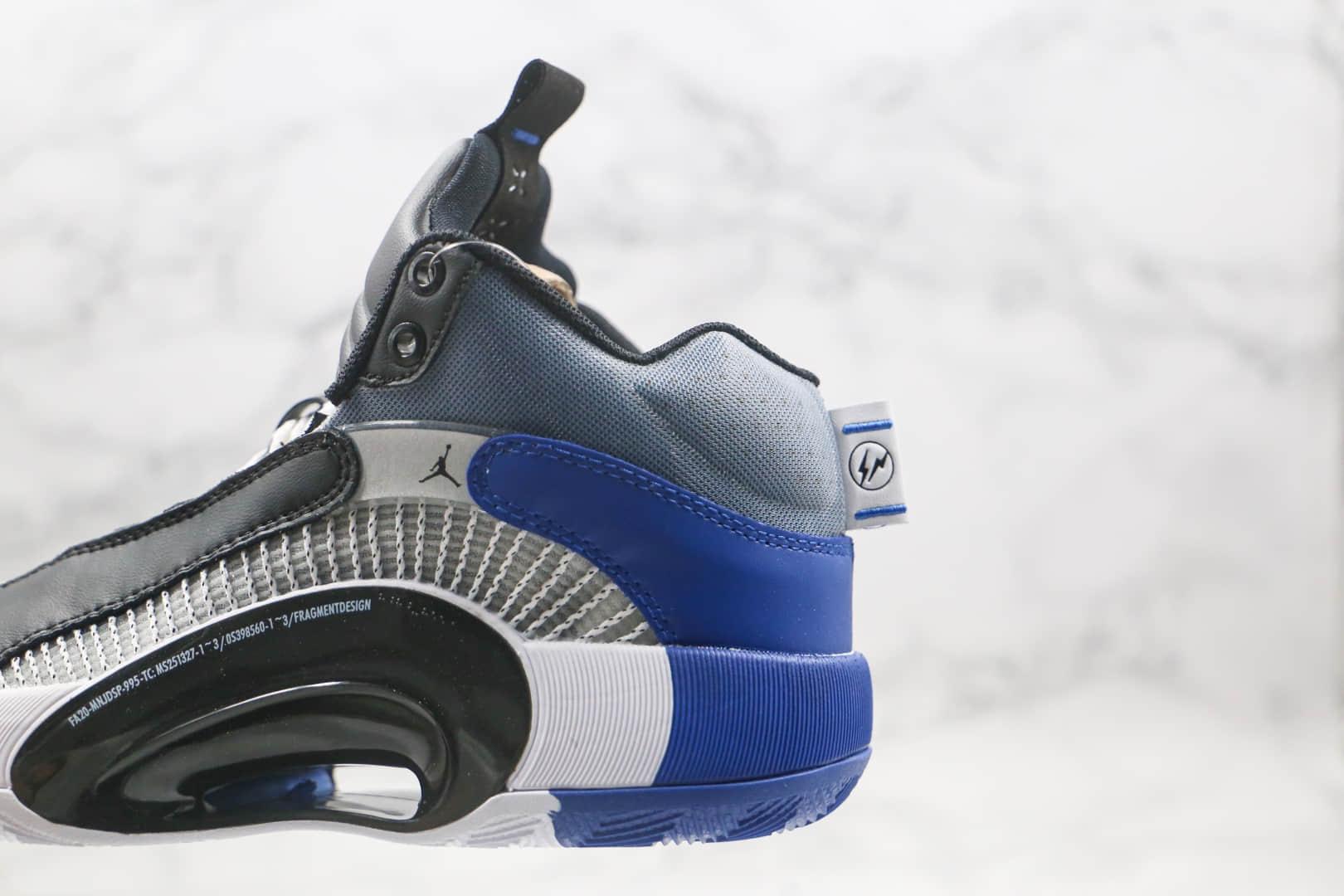 乔丹Air Jordan Jordan XXXV纯原版本黑蓝色AJ35代篮球鞋原档案数据开发原鞋开模一比一打造 货号:DA2371-100