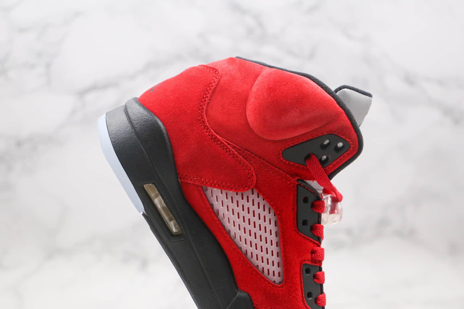 乔丹Air Jordan 5 Raging Bull纯原版本麂皮公牛队大红AJ5篮球鞋原档案数据开发原鞋开模一比一打造 货号:DD0587-600