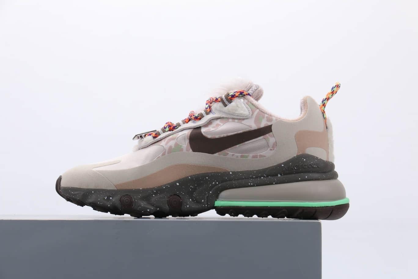 耐克Nike Air Max 270 React cq纯原版本机能半掌Max270珍珠七彩带鹅毛绒套装气垫鞋原档案数据开发 货号:DC3277-181
