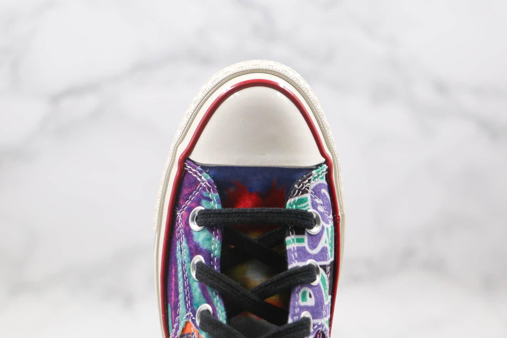 匡威Converse Chuck 70 1970s公司级版本高帮扎染硫化休闲帆布鞋原档案数据开发原厂硫化大底