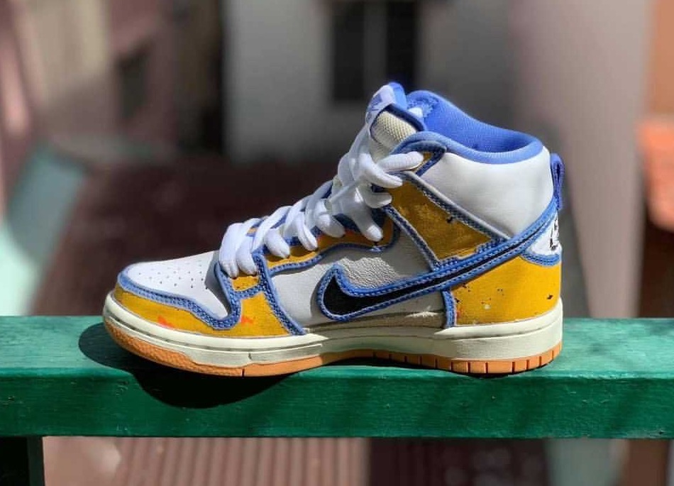 刮刮乐设计!这双Carpet Company x Nike SB Dunk High细节也太丰富了! 货号:CV1677-100