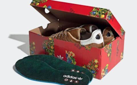 小魔怪Stan Smith惊艳亮相!后跟吸睛大眼设计!圣诞球鞋就选它! 货号:S42669