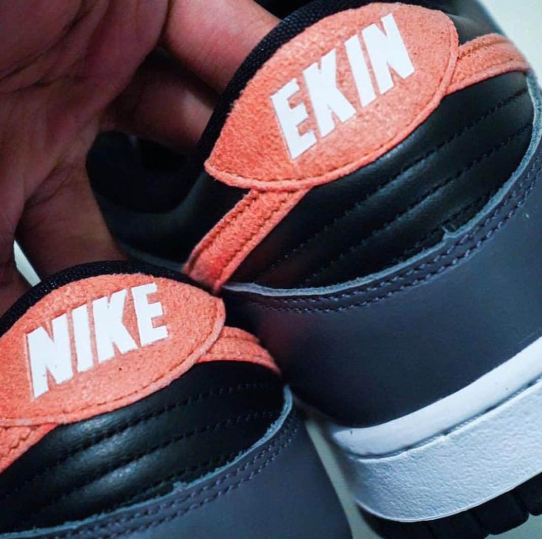 """Nike倒写!?全新Nike Dunk Low"""" EKIN""""首度曝光! 货号:DC7454-100"""