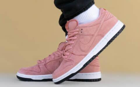 """男女通吃配色!全新Nike SB Dunk""""粉红猪""""上脚图释出! 货号:CV1655-600"""