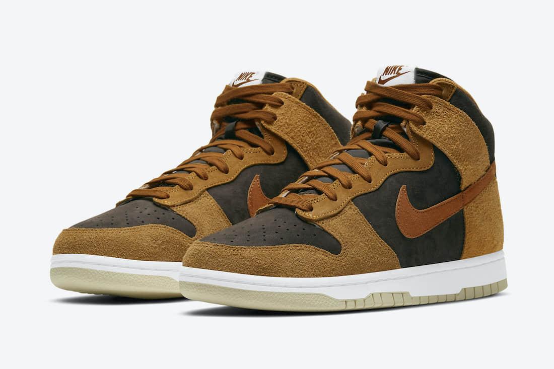 全新小麦Nike Dunk Hi官图释出!冬日球鞋选这双! 货号:DD1401-200