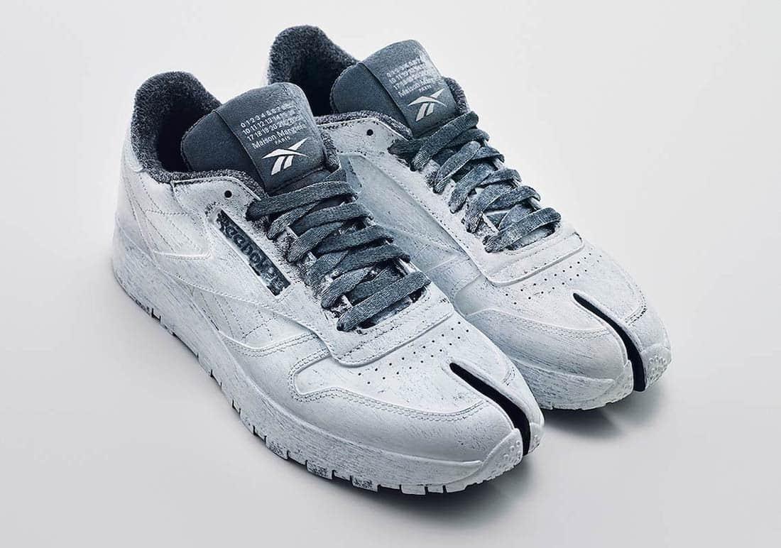 油漆印刷分趾鞋!Maison Margiela x Reebok联名鞋即将登场! 货号:H04859