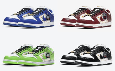 "Supreme x Nike SB Dunk Low ""Stars""系列官图释出!绝对又是抢手狠货!"