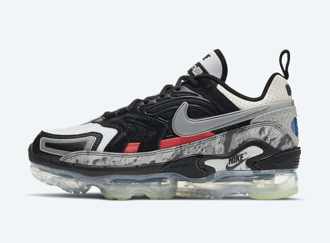 不对称鸳鸯细节+超多元素点缀!全新Nike Air VaporMax EVO即将登场! 货号:DD3054-001