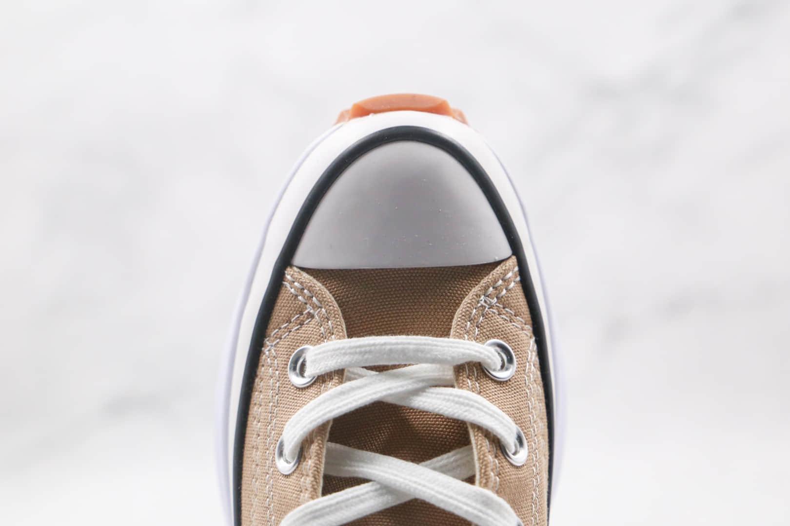 匡威Converse Run Star Hike1970S公司级版本高帮松糕锯齿奶茶色厚底帆布鞋原楦头纸板打造 货号:166802C
