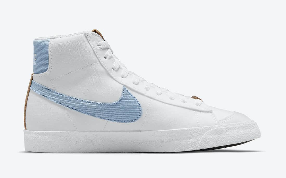 全新Nike Blazer Mid '77首度曝光!花卉刺绣+软木塞细节! 货号:DC9265-100