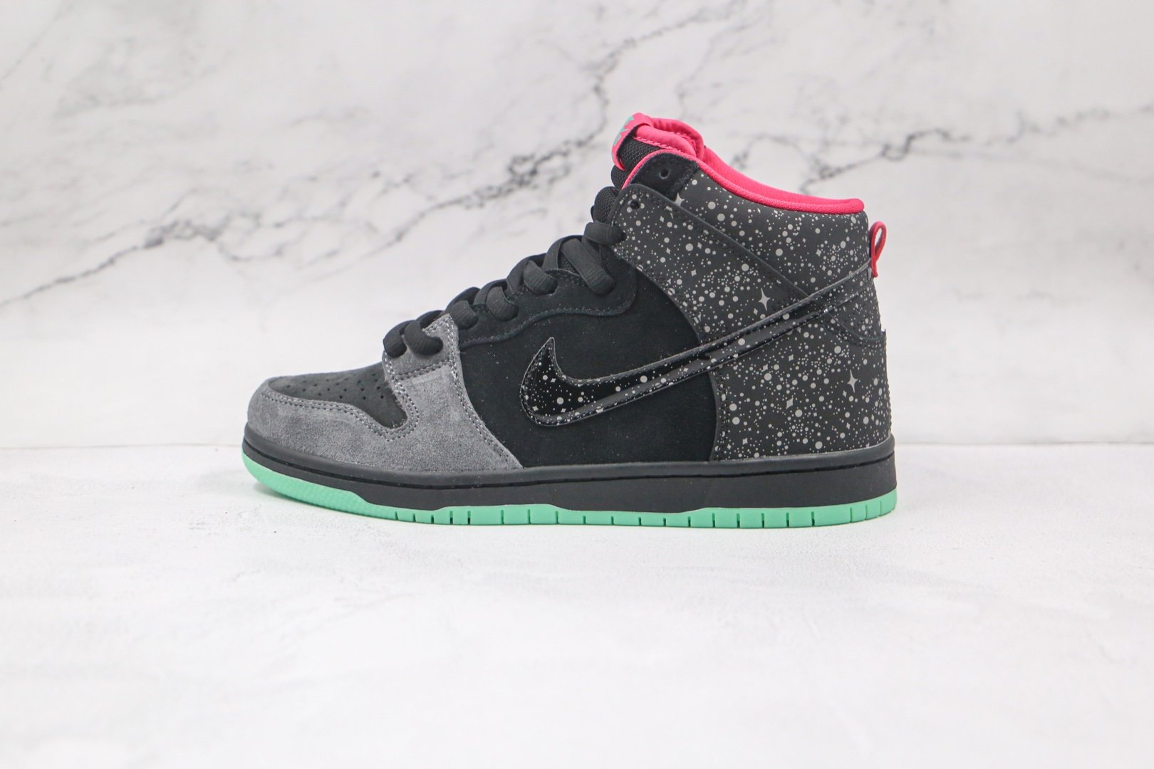 耐克Nike Dunk SB Yeezy纯原版本高帮DUNK椰子夜光北极光板鞋内置Zoom气垫原档案数据开发 货号:313171-063