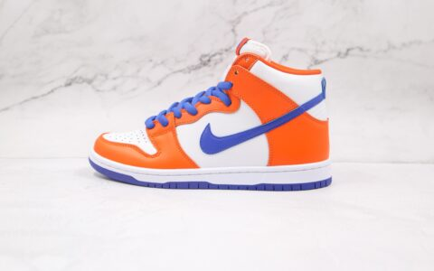 耐克Nike SB Dunk High Danny Supa纯原版本高帮SB DUNK四大天王白蓝橙色板鞋原楦头纸板打造 货号:AH0471-841