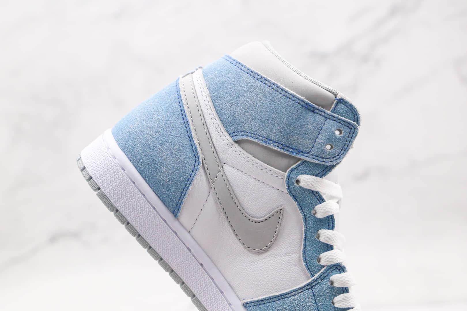 乔丹Air Jordan 1 Hyper Royal纯原版本高帮AJ1麂皮白蓝色篮球鞋正确后跟定型原盒原标 货号:555088-402