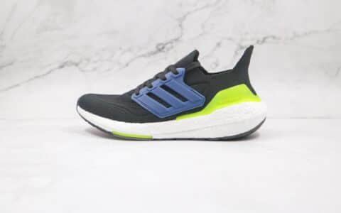 纯原版本阿迪达斯UB7.0黑蓝绿色爆米花跑鞋出货