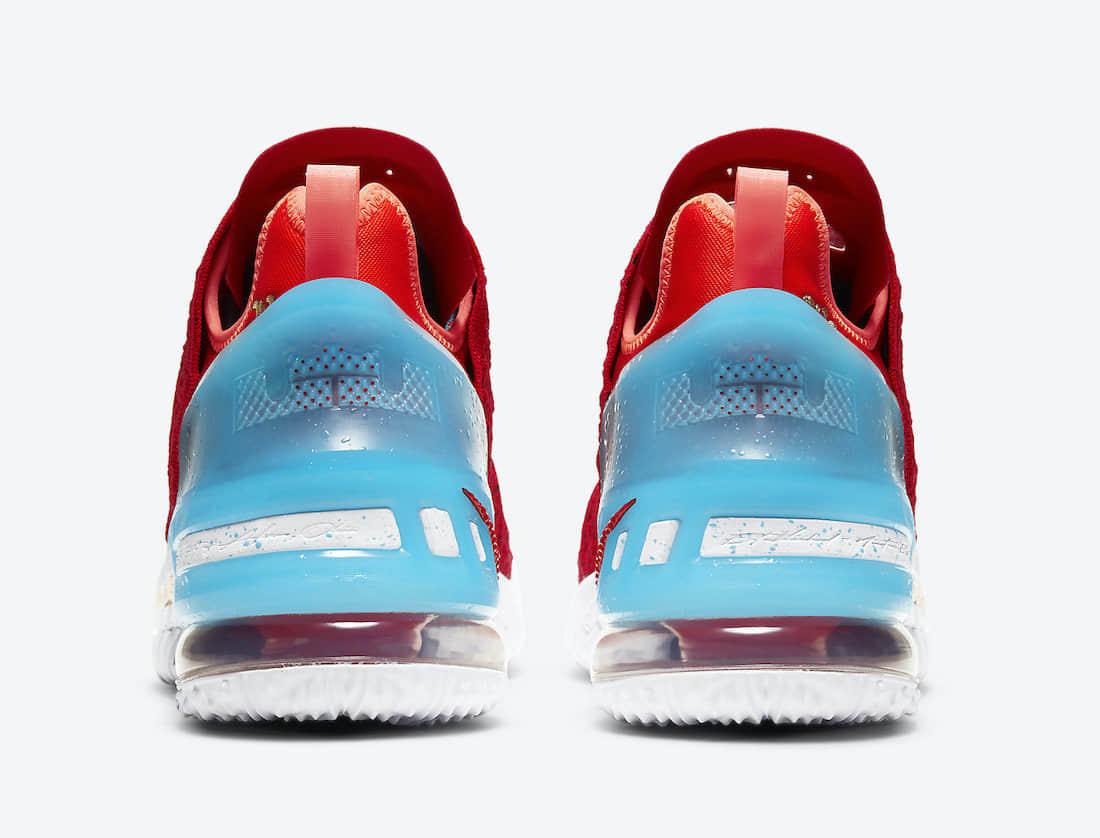 """400ML x Nike LeBron 18""""恭喜发财""""2月6日发售!细节丰富!光鞋盒都值了! 货号:CW3155-600"""