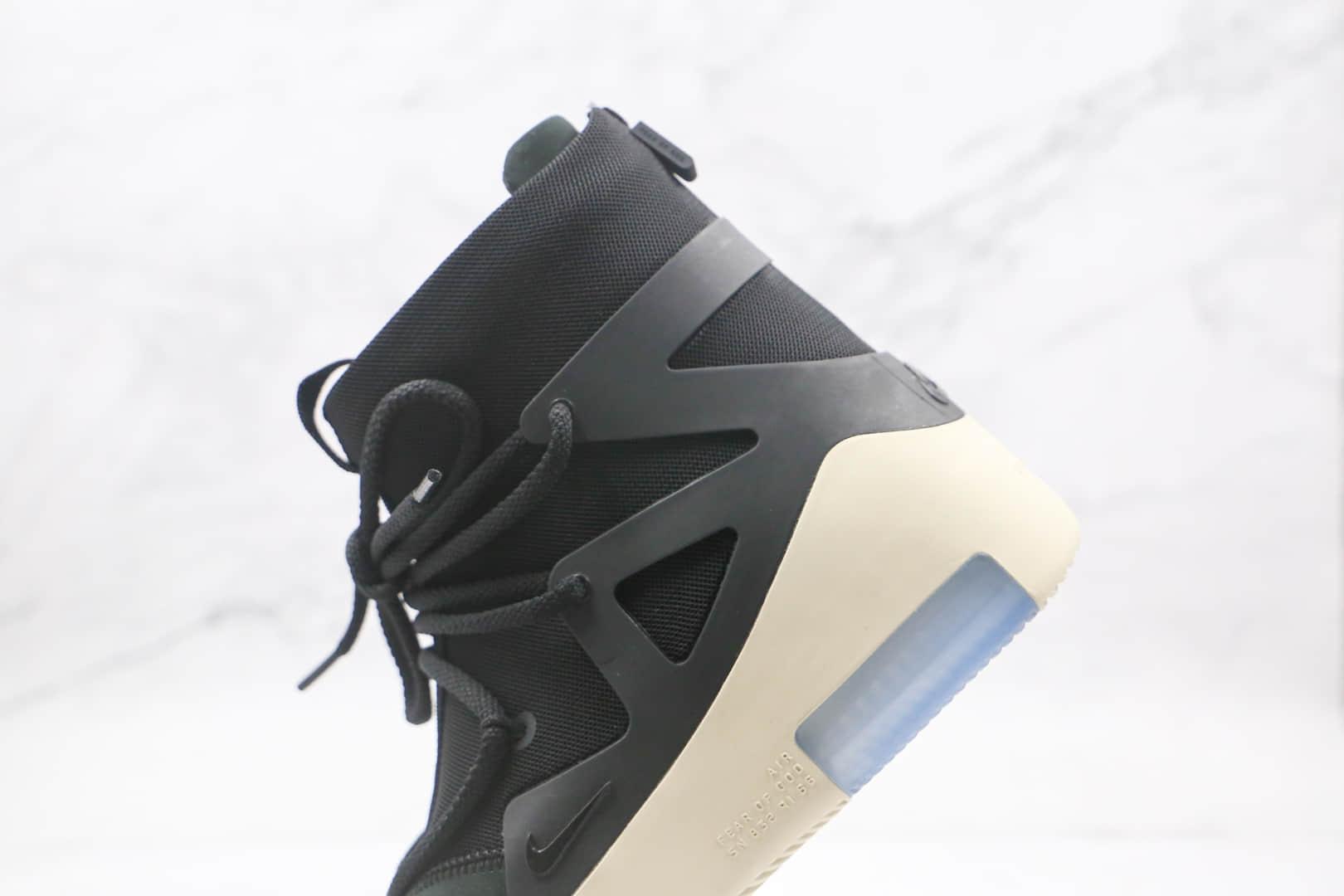 耐克Nike Air Fear of God 1 String The Question x FOG联名款纯原版本恐惧上帝高帮黑色拉链款原盒配件齐全 货号:AR4237-902