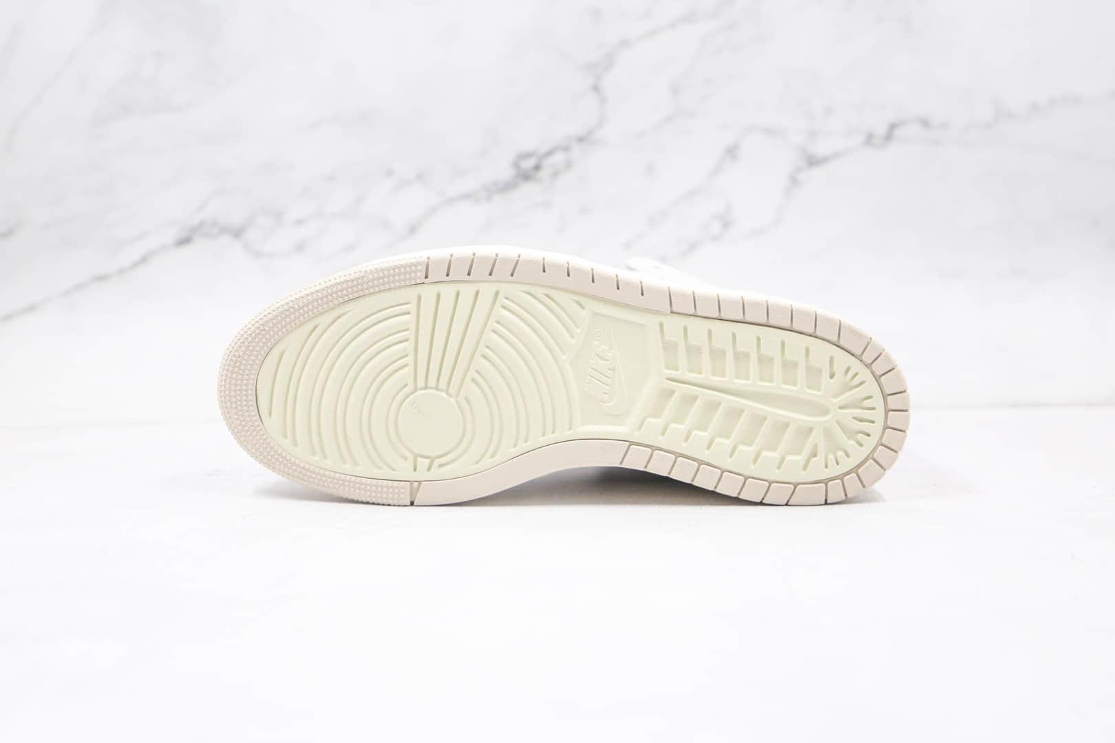乔丹Air Jordan 1 Zoom Air CMFT Summit White纯原版本高帮AJ1米白珍珠奶茶板鞋正确后跟定型 货号:CT0979-601