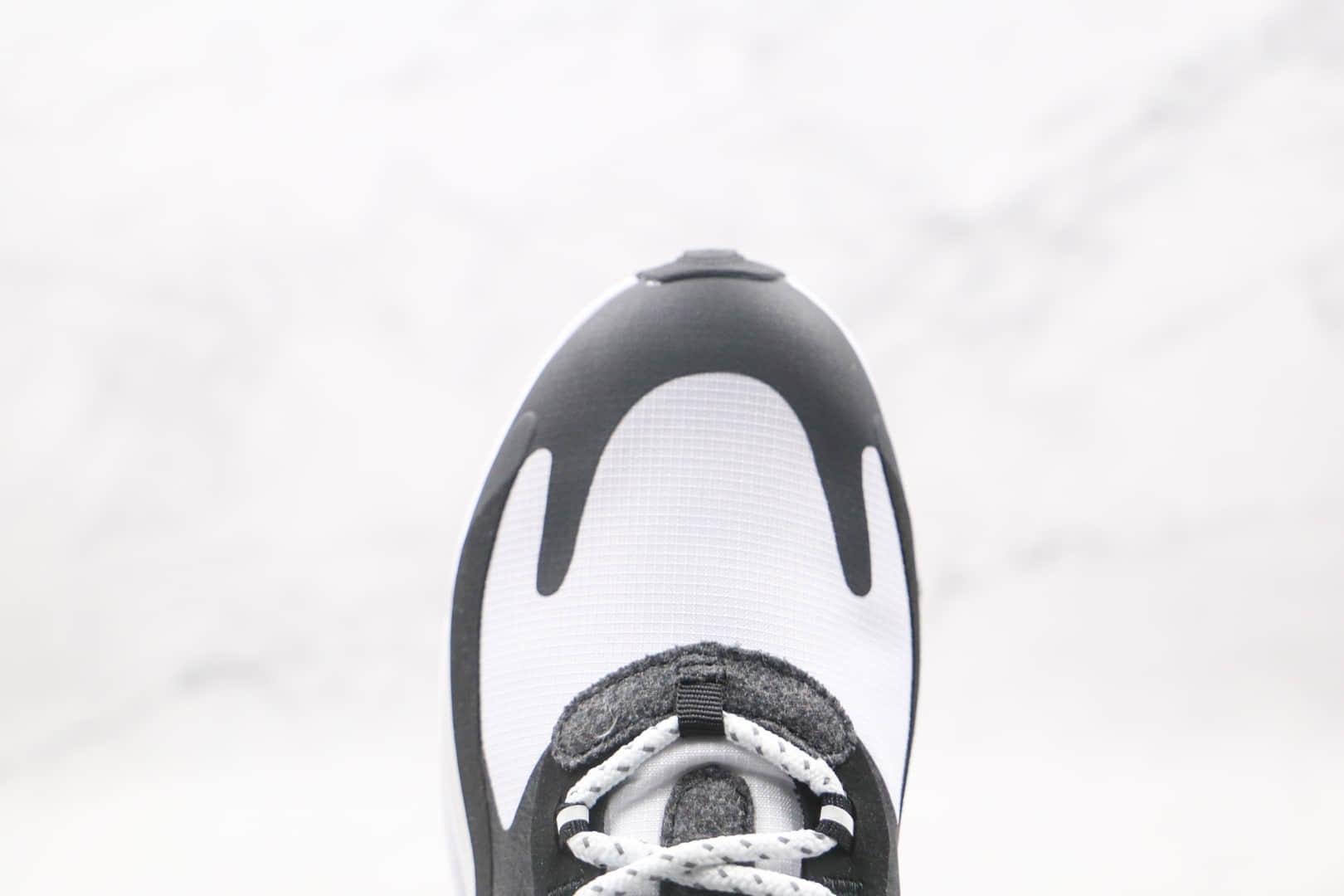 耐克Nike React Air Max 270V2纯原版本瑞亚半掌气垫Max270二代黑白气垫鞋真小潘气垫 货号:CQ4805-101
