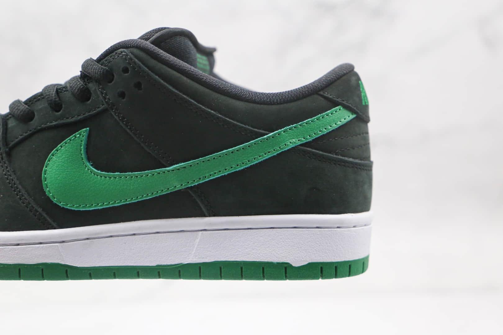 耐克Nike SB Dunk纯原版本低帮SB DUNK黑绿色板鞋内置后跟Zoom气垫原盒原标 货号:BQ6817-005