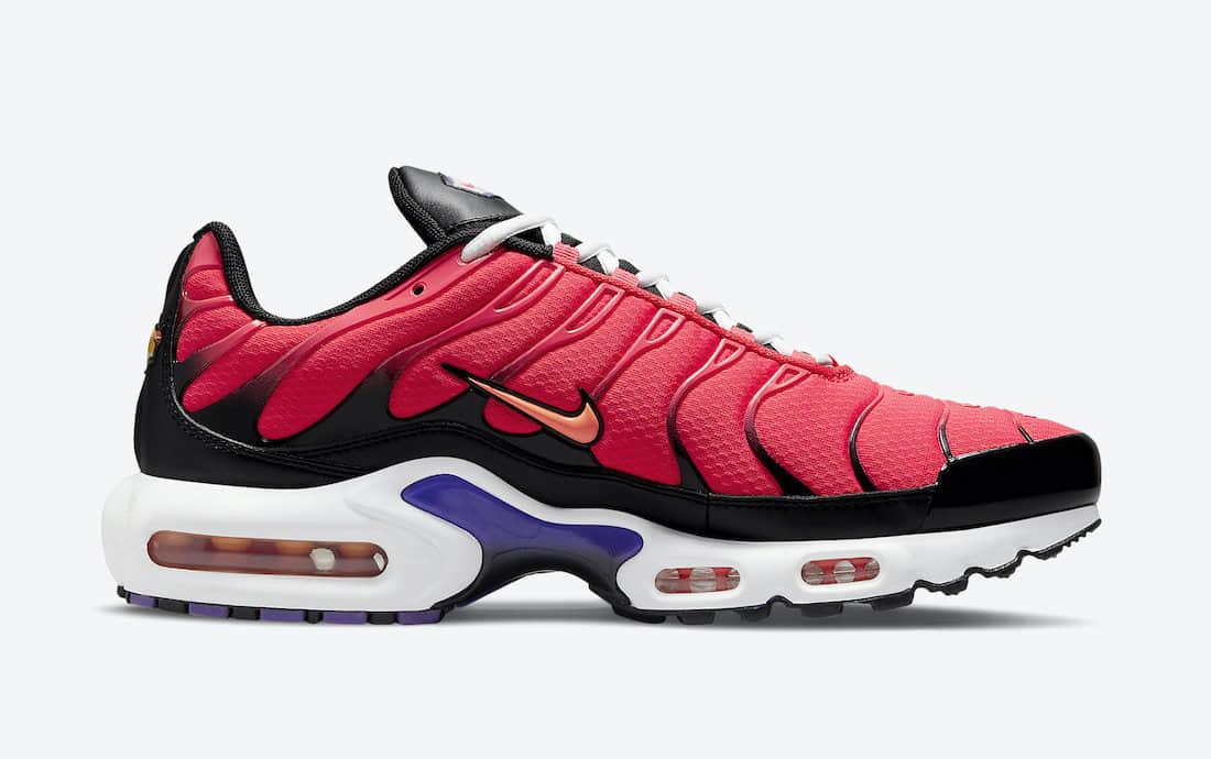 这双复古跑鞋有点抢眼!全新Nike Air Max Plus即将发售! 货号:DJ5138-600