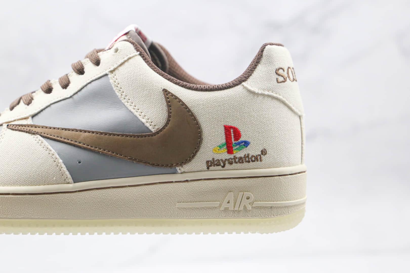 耐克Nike Air Force 1 x Travis Scott x Playstation纯原版本三方联名款低帮空军一号倒钩板鞋内置全掌Sole气垫 货号:BQ5826-208