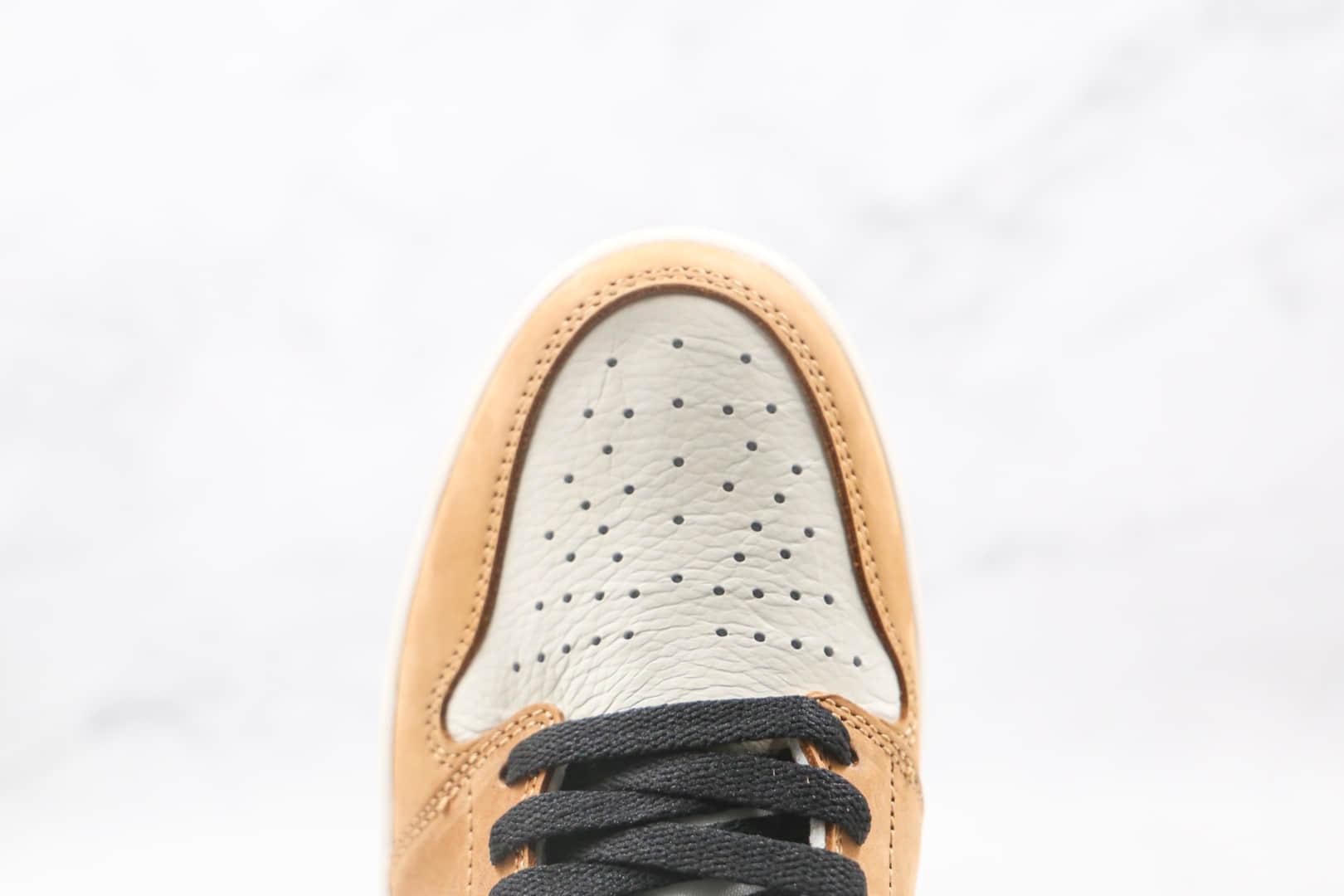 耐克Nike Wmns Jordan 1 High OG纯原版本高帮AJ1新秀小麦色篮球鞋原楦头纸板打造 货号:555088-700