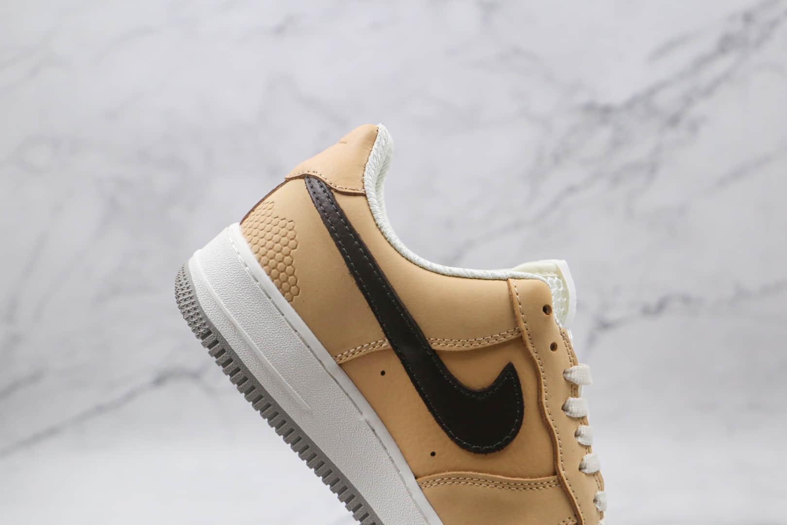 耐克Nike Air Force 1 Low Manchester Bee纯原版本低帮空军一号奶茶小蜜蜂板鞋内置全掌Sole气垫 货号:DC1939-200