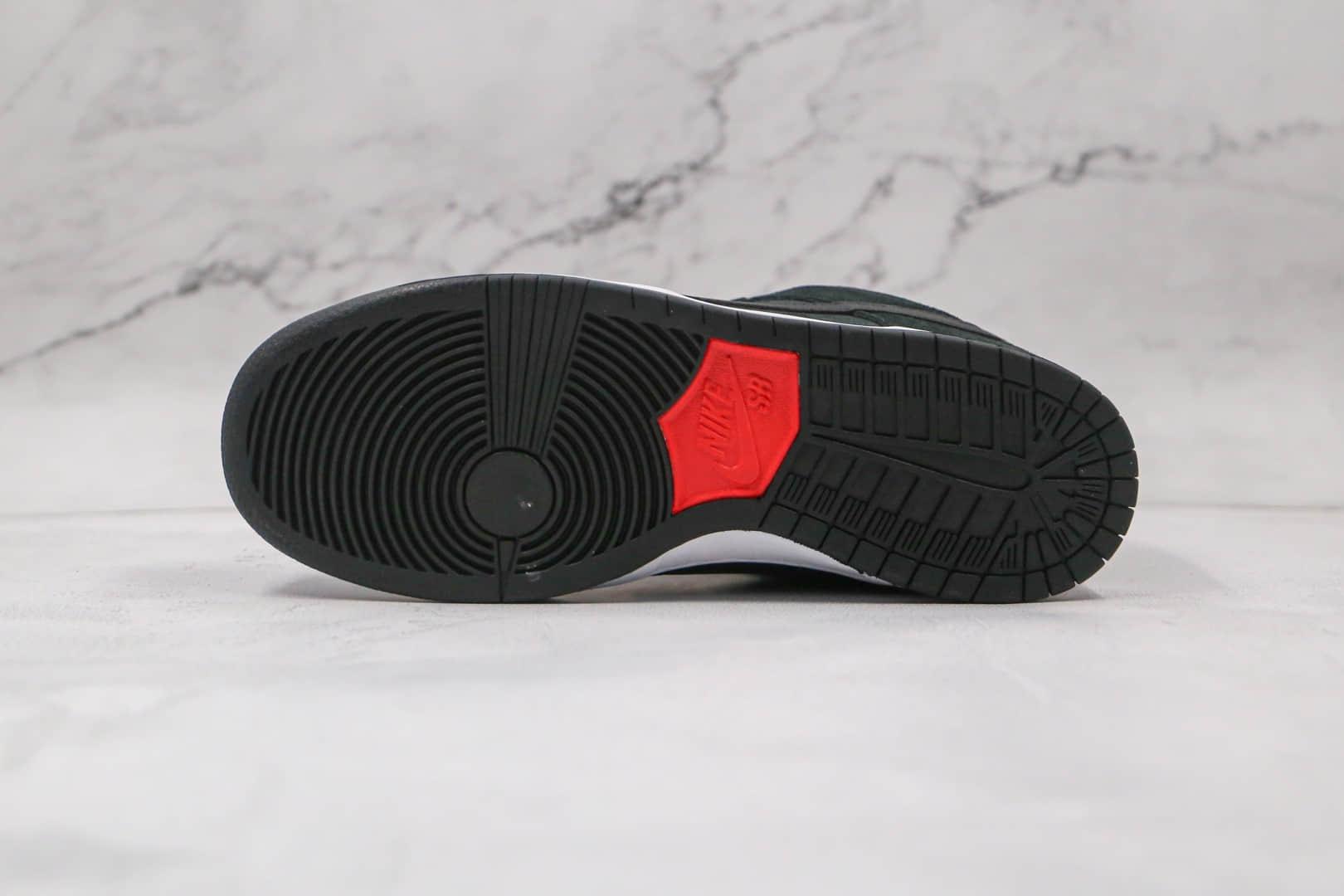 耐克Nike Dunk Low Pro SB Green Cork纯原版本低帮SB DUNK绿鳄黑绿板鞋内置Zoom气垫 货号:304292-055