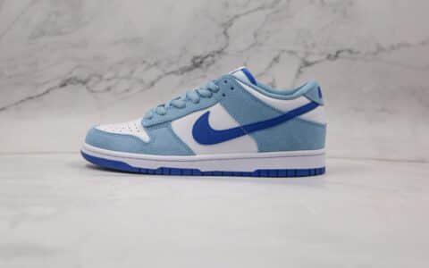 耐克Nike SB Dunk High Premium纯原版本低帮SB DUNK蓝白色板鞋内置气垫原盒原标 货号:854866-009