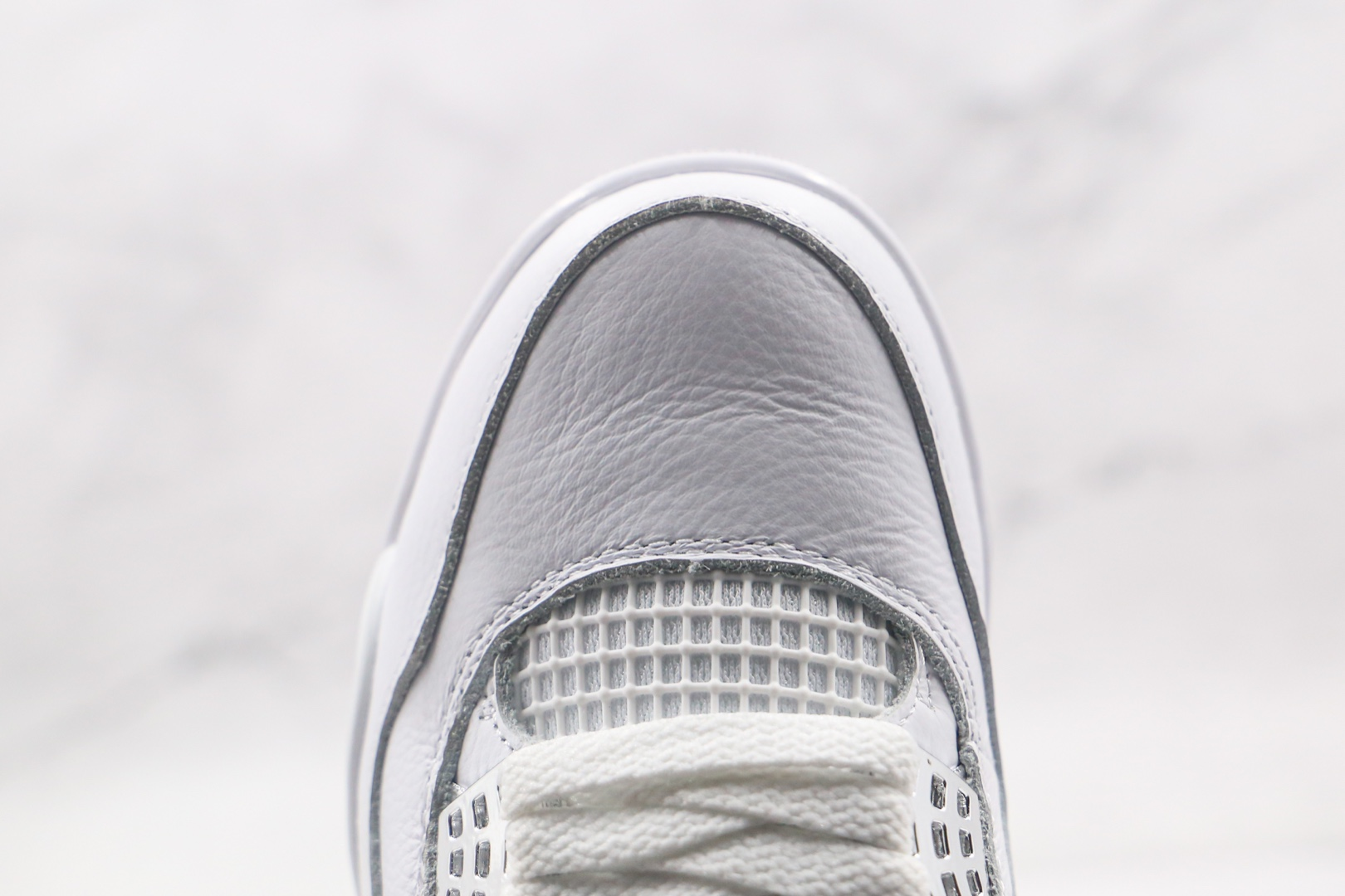 乔丹Air Jordan 4 SE纯原版本高帮AJ4纯白篮球鞋原楦头纸板打造原盒原标 货号:308497-100
