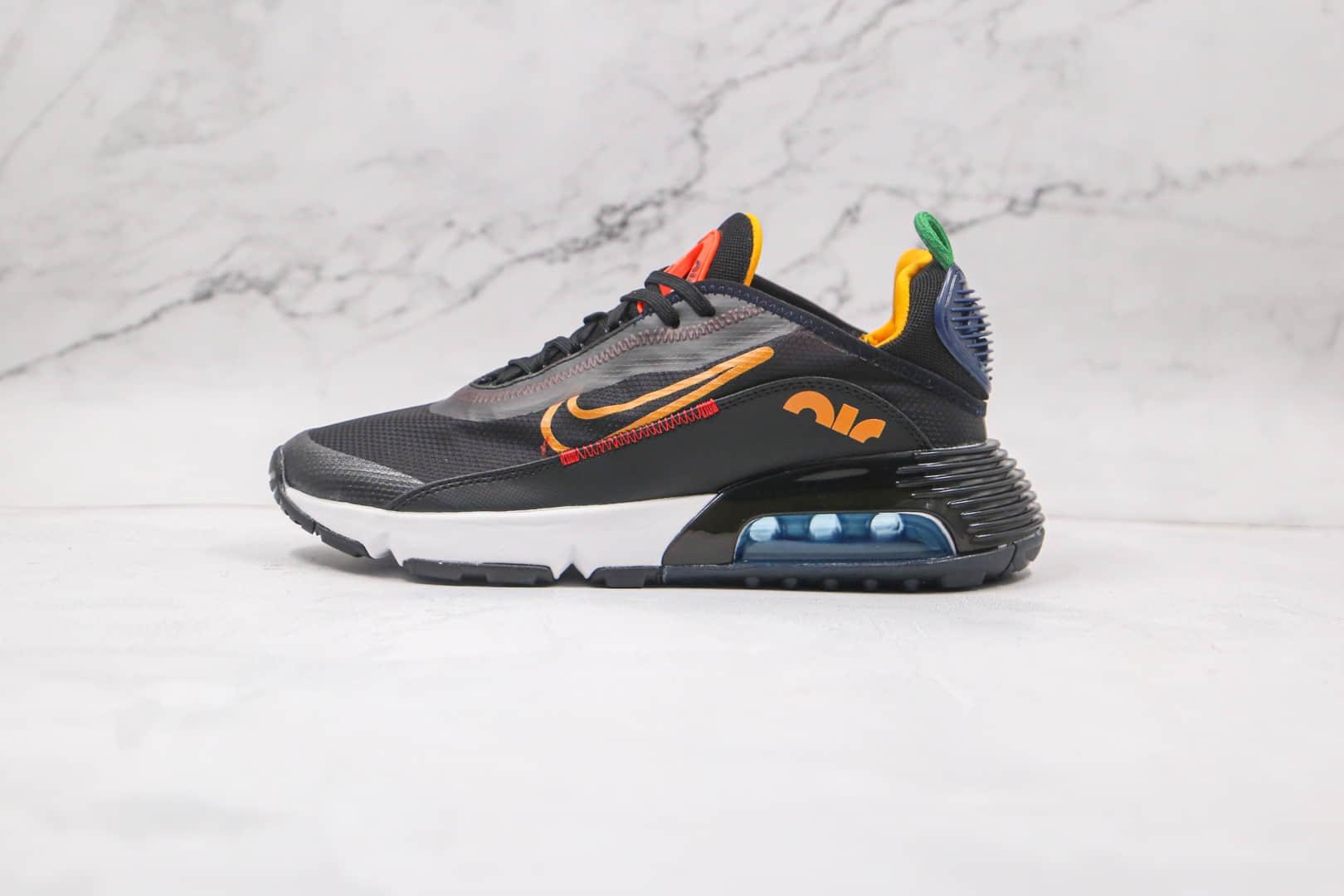 耐克Nike Air Max 2090纯原版本黑橘色max2090气垫鞋原档案数据开发原盒原标 货号:DC1465-001