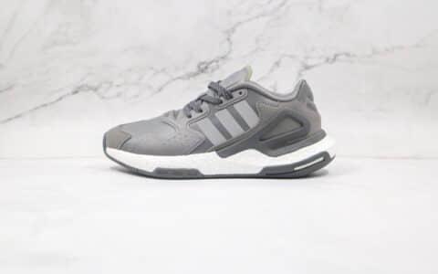阿迪达斯Adidas Originals 2020 Day Jogger Boost 2020纯原版本夜行者二代皮面碳灰爆米花跑鞋原盒原标 货号:FW4822