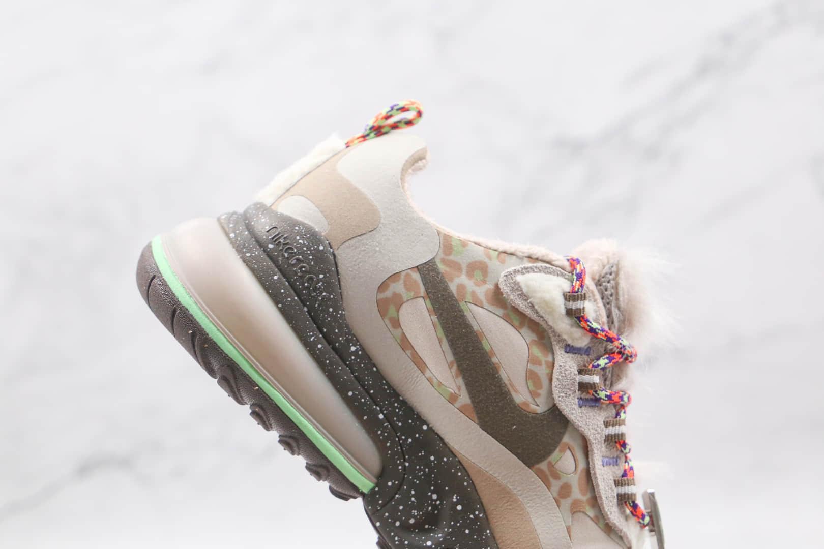 耐克Nike Air Max270纯原版本半掌气垫豹纹泼墨加绒款气垫鞋内置真小潘气垫 货号:CU9333-100