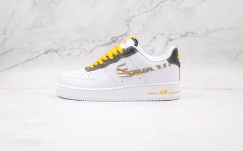 耐克Nike Air Force 1 Low纯原版本低帮空军一号白黄反光斑马纹路板鞋内置全掌Sole气垫 货号:DH5284-100