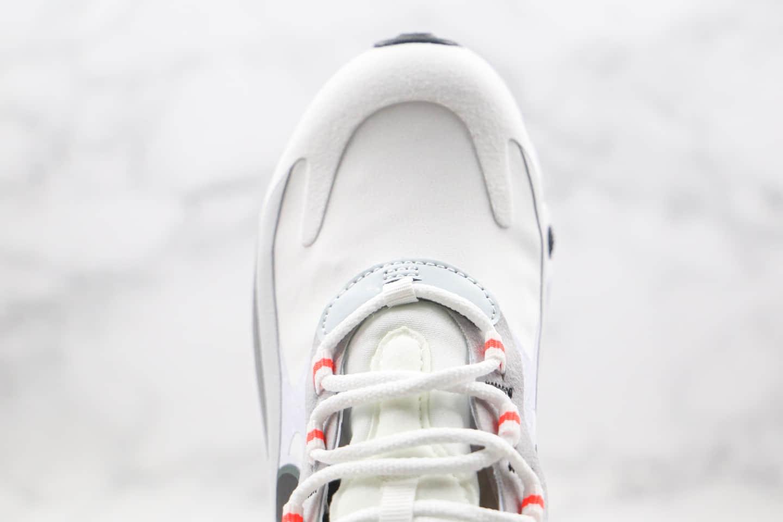 耐克Nike Air Max 270 React纯原版本瑞亚赛车系列Max270白灰红色半掌气垫原档案数据开发 货号:CT1280-100