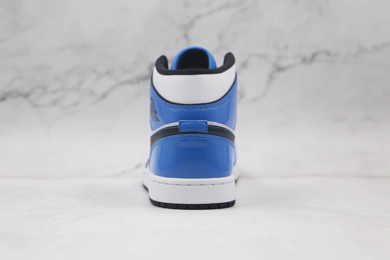 乔丹Air Jordan 1 Mid Signal Blue纯原版本中帮AJ1二次元描边白蓝小闪电原楦头纸板打造 货号:DD6834-402