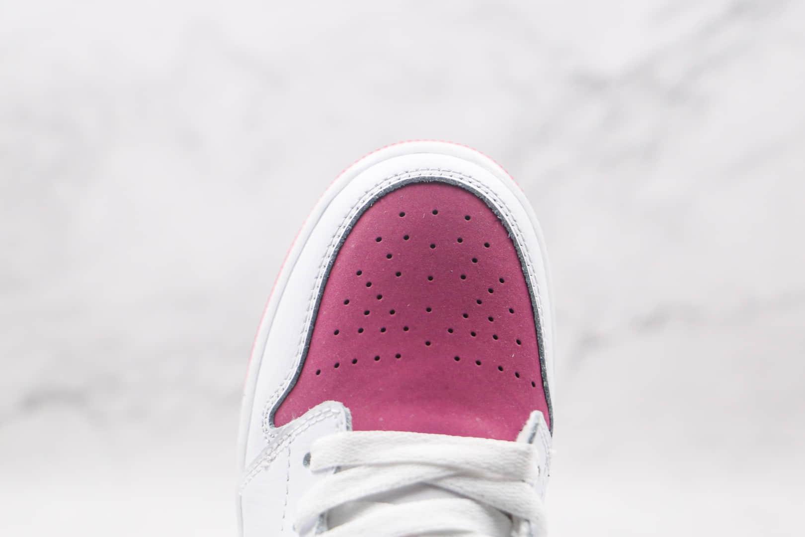 乔丹Air Jordan1 Low纯原版本低帮AJ1白紫情人节板鞋原楦头纸板打造 货号:554723-161