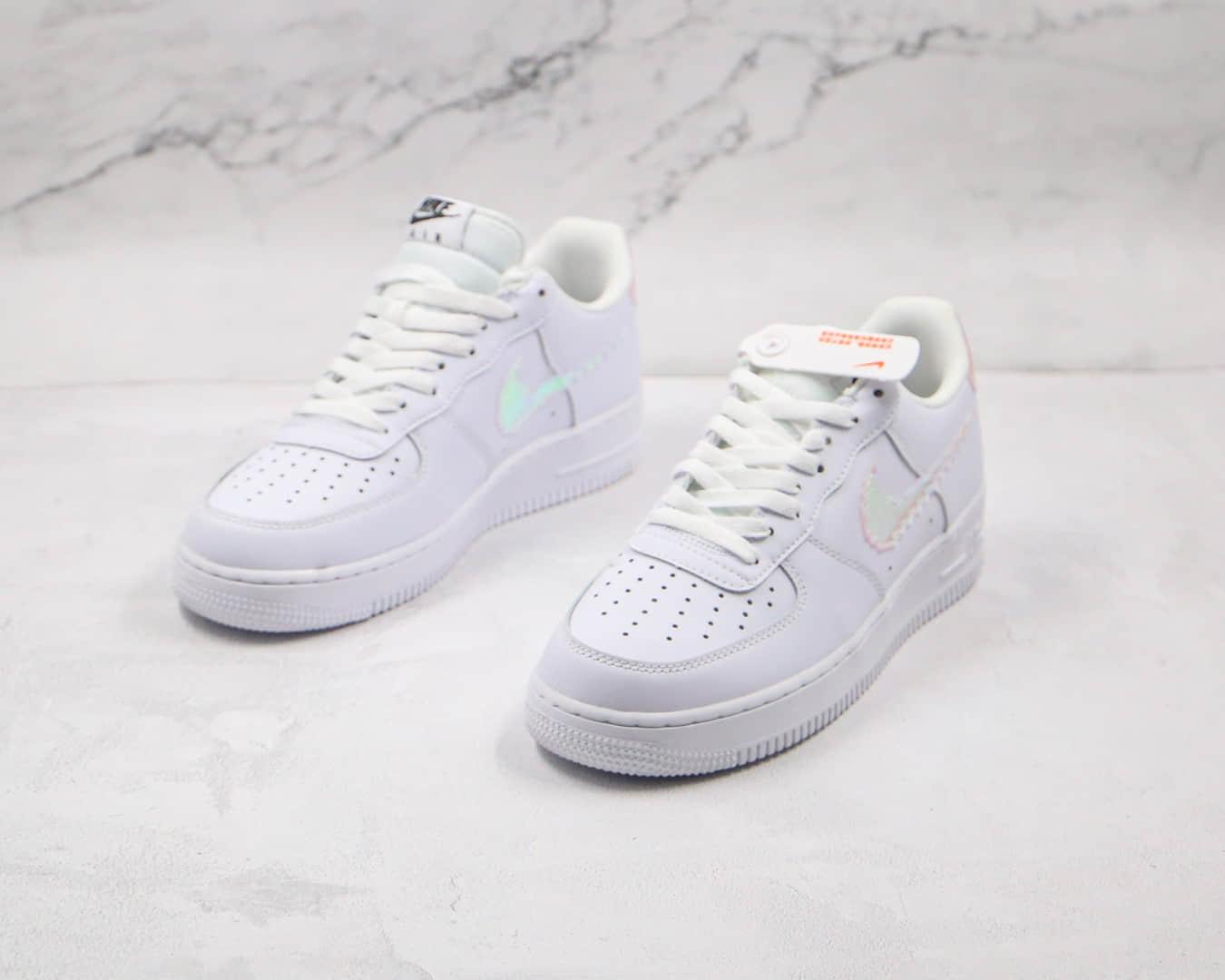 耐克Nike Air Force 1 LV8纯原版本低帮空军一号白镭射板鞋原盒原标正确鞋面镭射标 货号:CW1577-100