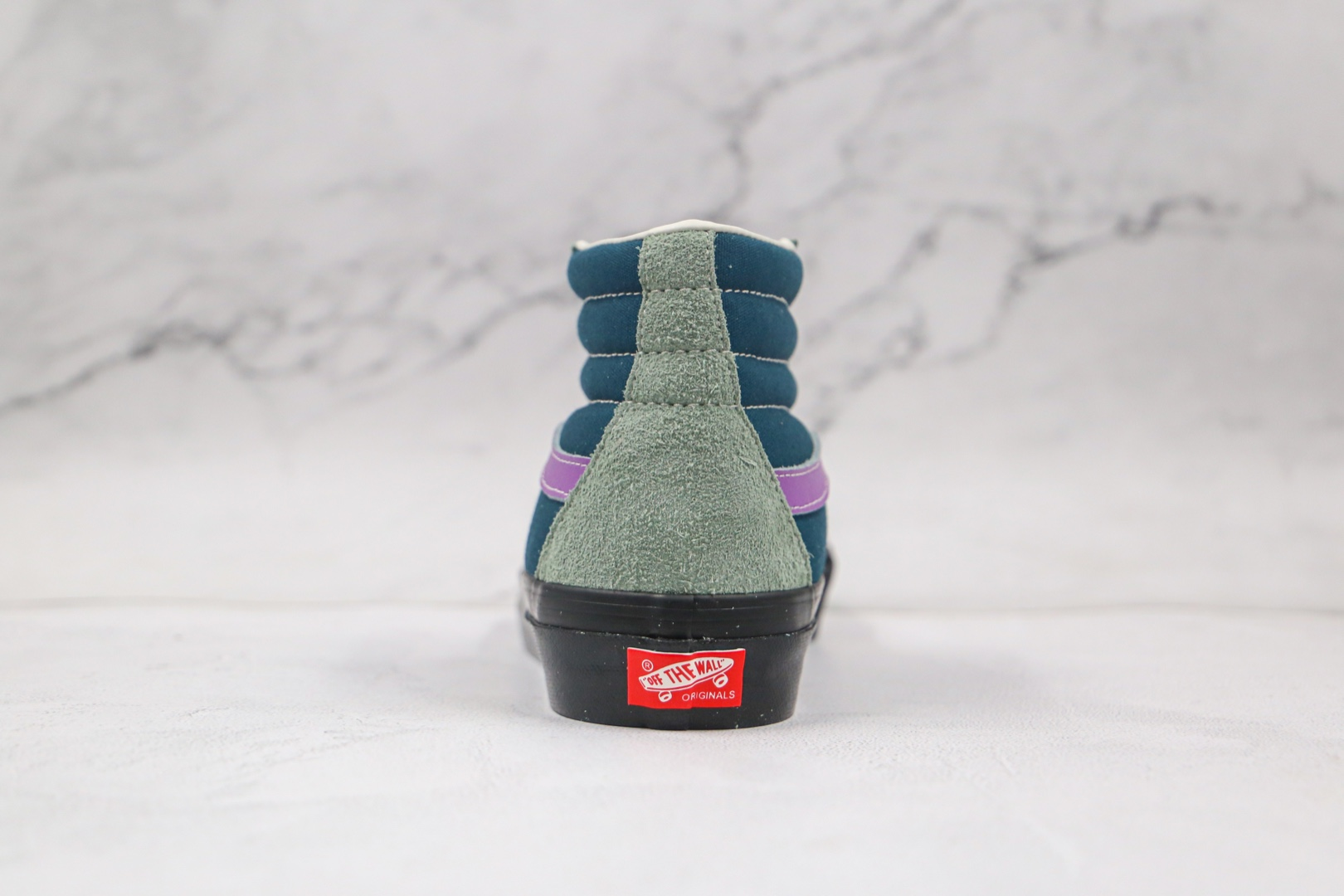 万斯Vans Vault OG SK8-Hi LX公司级版本高帮深绿紫色麂皮硫化板鞋正确原厂硫化大底原盒原标