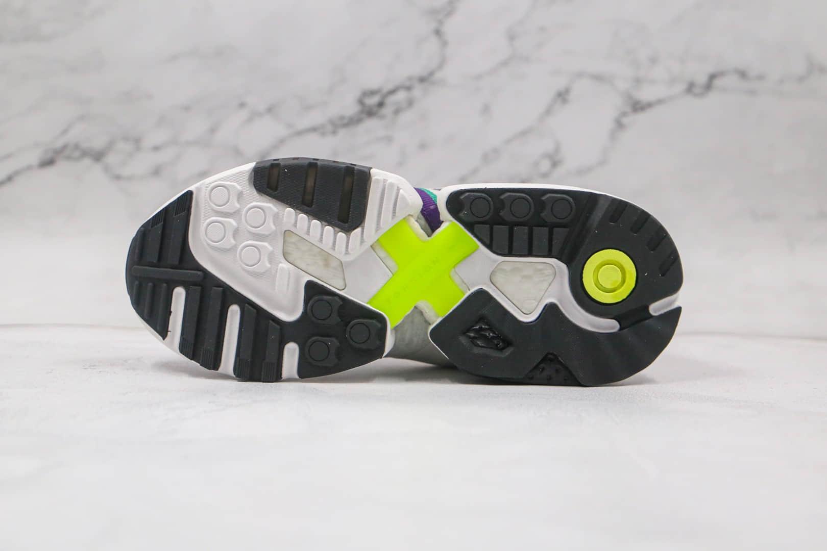 阿迪达斯Adidas Originals ZX Torsion纯原版本三叶草白紫绿蓝色ZX扭转系列慢跑鞋原盒原标 货号:EF4388