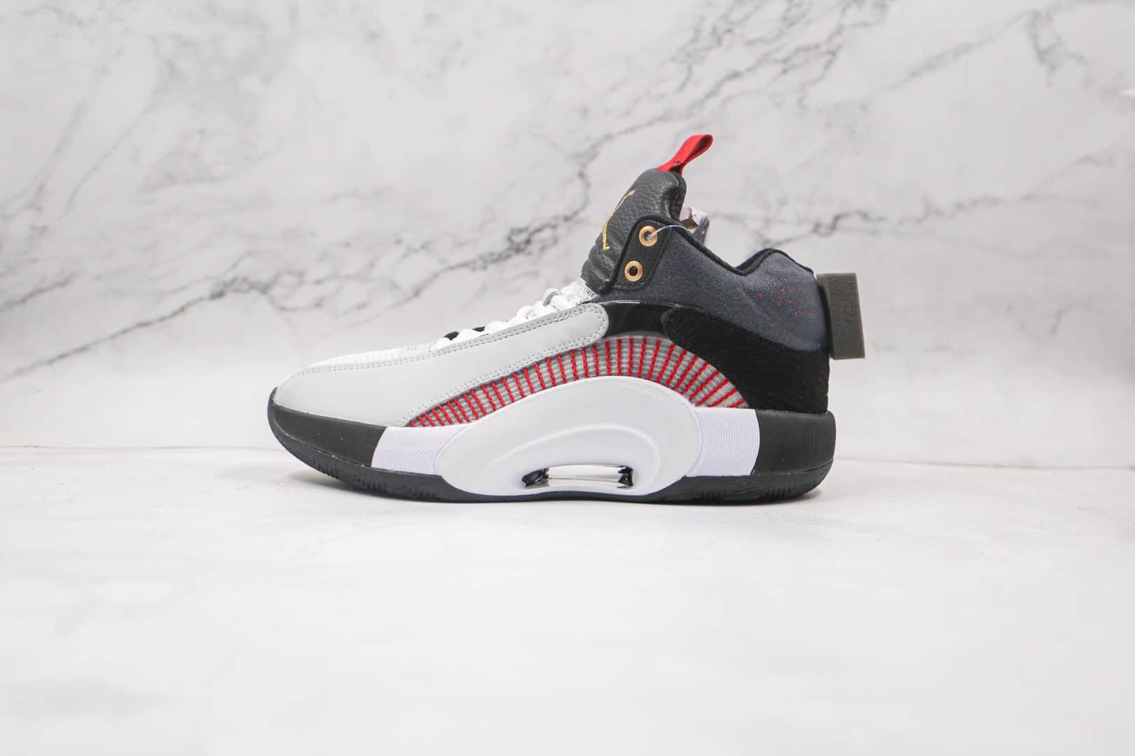 乔丹Air Jordan Jordan XXXV纯原版本白红黑色AJ35篮球鞋内置气垫支持实战 货号:DA4701-001