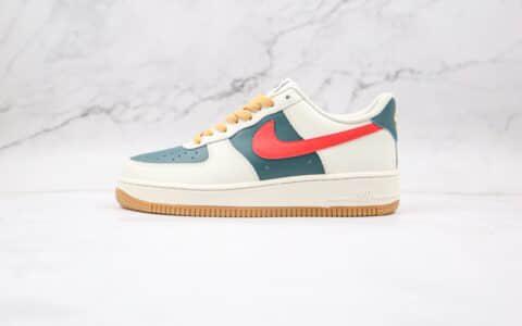 耐克Nike Air Force 1 07 Low纯原版本低帮空军一号白绿红色板鞋内置气垫原盒原标 货号:AQ3778-991