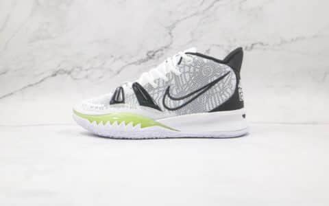耐克Nike Kyrie 7 Pre Heat Ep纯原版本欧文7代白黑色篮球鞋内置气垫支持实战 货号:CQ9327-100