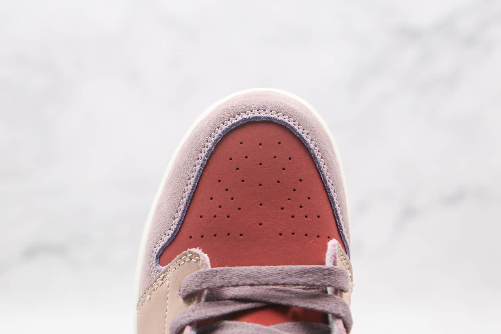 乔丹Air Jordan 1 Low Canyon Rust纯原版本低帮AJ1红豆奶茶红粉紫彩色拼接板鞋原楦头纸板打造 货号:DC0774-602
