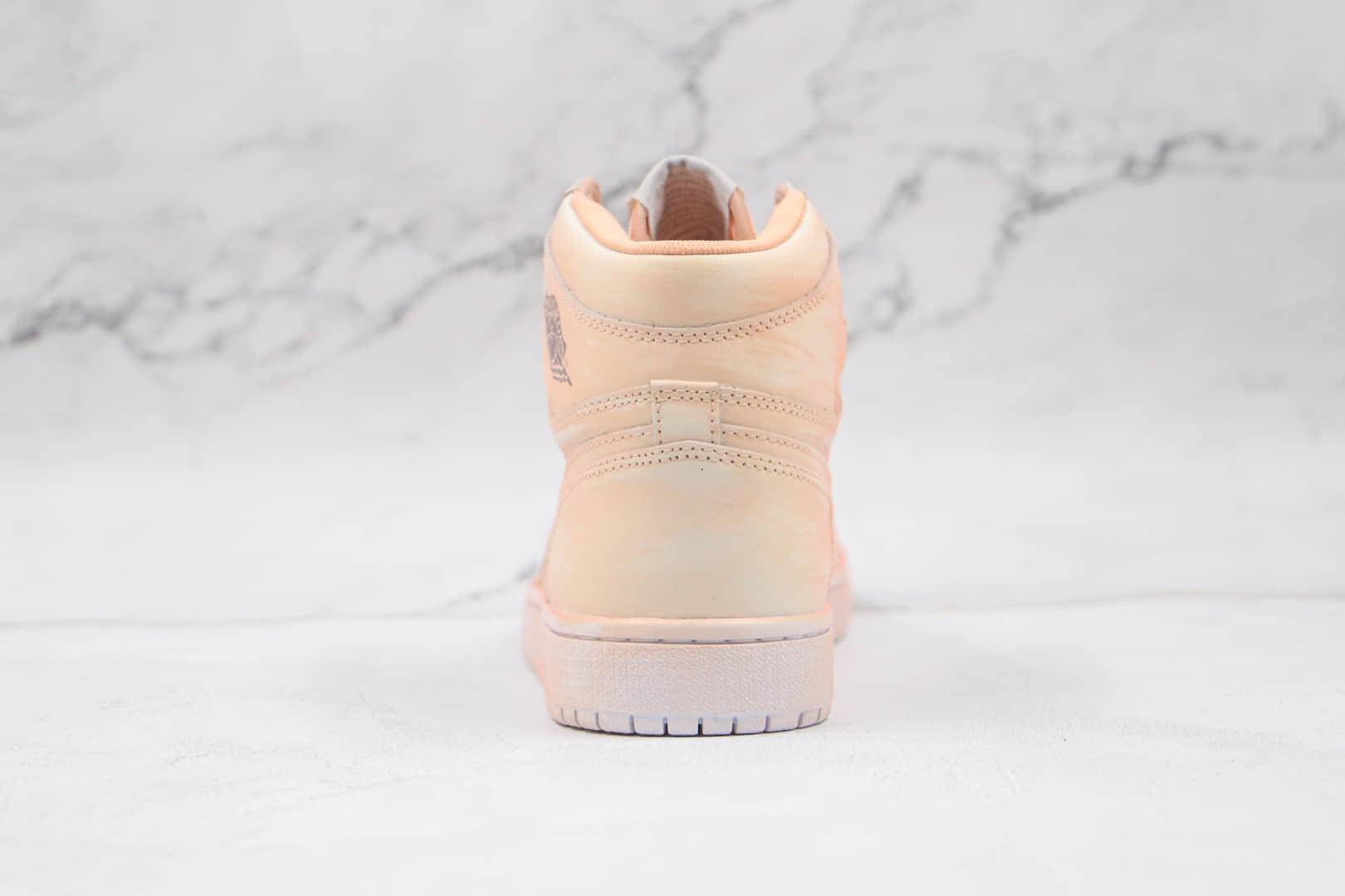 乔丹Air Jordan 1 Artificial brush color纯原版本高帮AJ1淡橘色擦色板鞋原档案数据开发 货号:BQ6817-204
